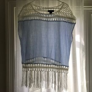 crochet top with frills